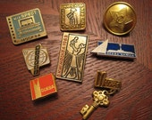 Set of Seven Assorted Soviet-Era Moscow Pins