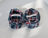 Plaid Ruffle Baby Girl Shoes Size 1