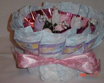 Diaper Basket Bouquet Layette