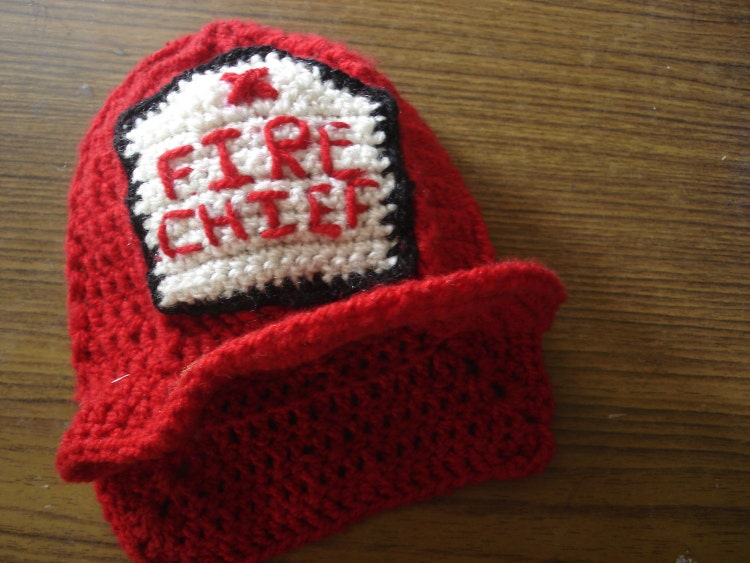 Crochet Pattern For Baby Fireman Hat : CROCHET PATTERN Crochet fireman hat pattern by ...