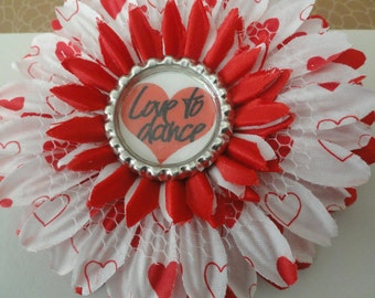 Love To Dance Flower Clip