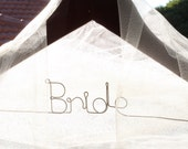 BRIDAL party wood hanger for wedding outfits
