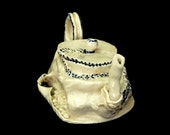 Handmade Ceramic Teapot from Israel - Blue and White and Sculpted