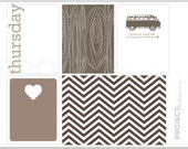 Neutral Love project life modern scrapbooking journaling cards in Thursday PDF PNG
