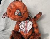 The Cat Karlo. OOAK teddy- bears friend.(RESERV)