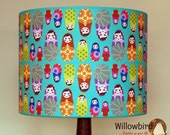 New Retro Lamp Shade 30cm (Babushka doll design)