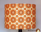 New Retro Lamp Shade 30cm (Tangerine flower design)