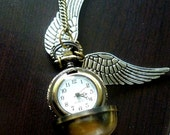 Harry Potter Golden Snitch Pocket Watch Locket