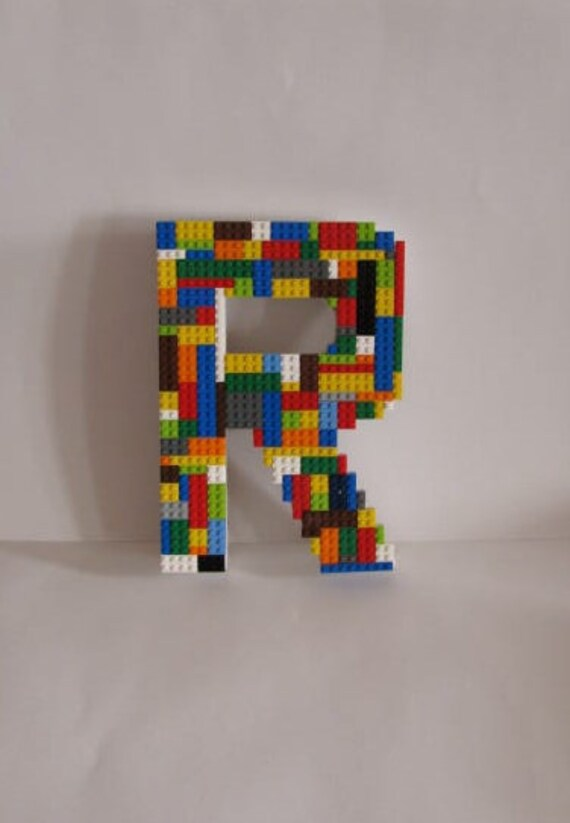 Fun Lego Monogram Letter For Boy or Girl's Wall Decor