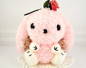kawaii amigurumi Bunny pink fuzzy  - Ready to Ship