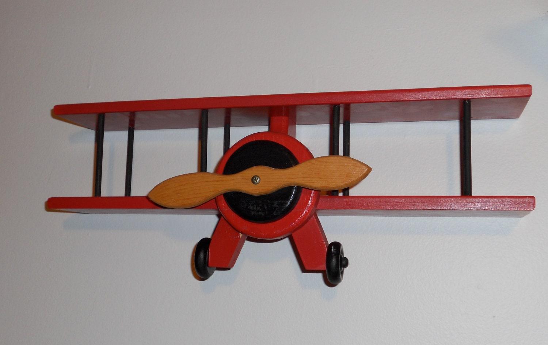 wooden airplane wall hanger curio shelf. Black Bedroom Furniture Sets. Home Design Ideas
