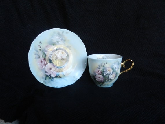 Cup and saucer set, European fine china