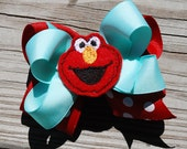 Elmo Hair Bow