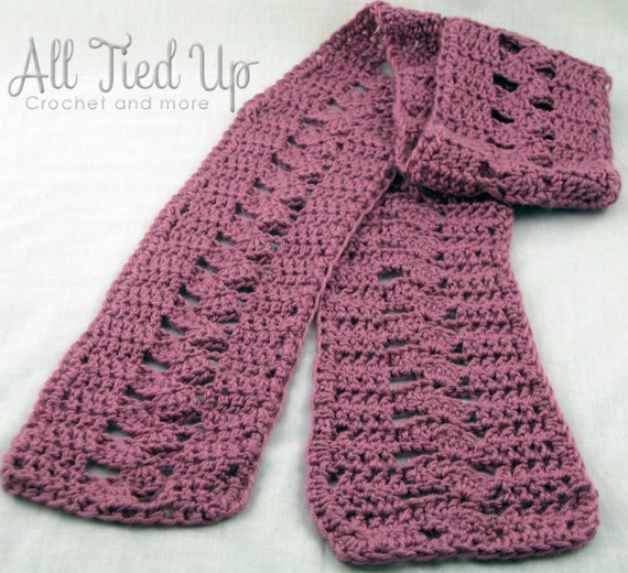 Crochet Scarf Patterns Zigzag : to Zig Zag Pattern Shell Crochet Scarf, Pink, Rose, Womans scarf ...