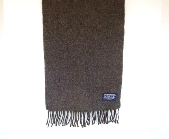 Men's Charcoal Grey Scarf - Vintage Wool Men's Scarf - Charcoal Scarf - Men's Scarf - Wool Muffler - Men's Muffler