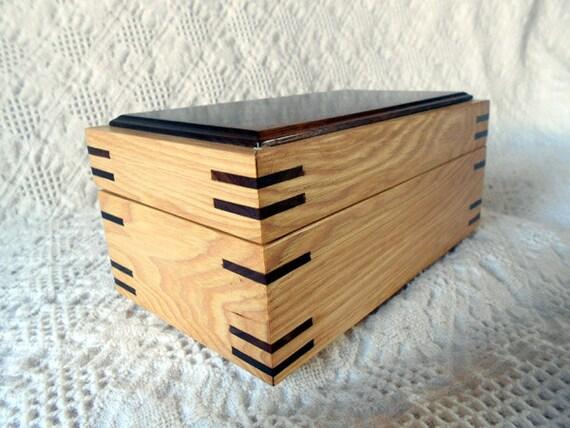 Wood Box - A Clear Hickory & Walnut Keepsake Box - PRICE REDUCED