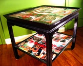 Decoupage Table Japanese James Bond Movie Poster Furniture -Sean Connery