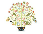 christine stalder Original Illustration - Tree of Life  Limited Edition Print