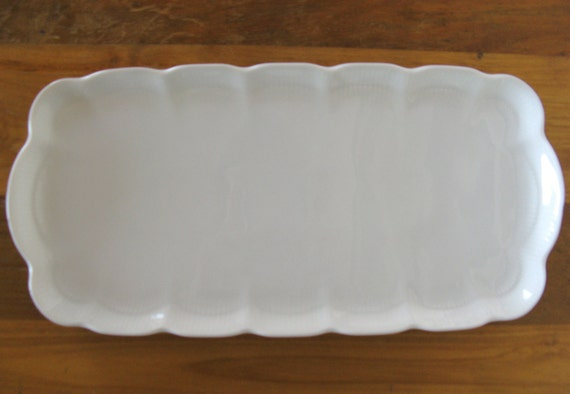 White Porcelain Serving Platter