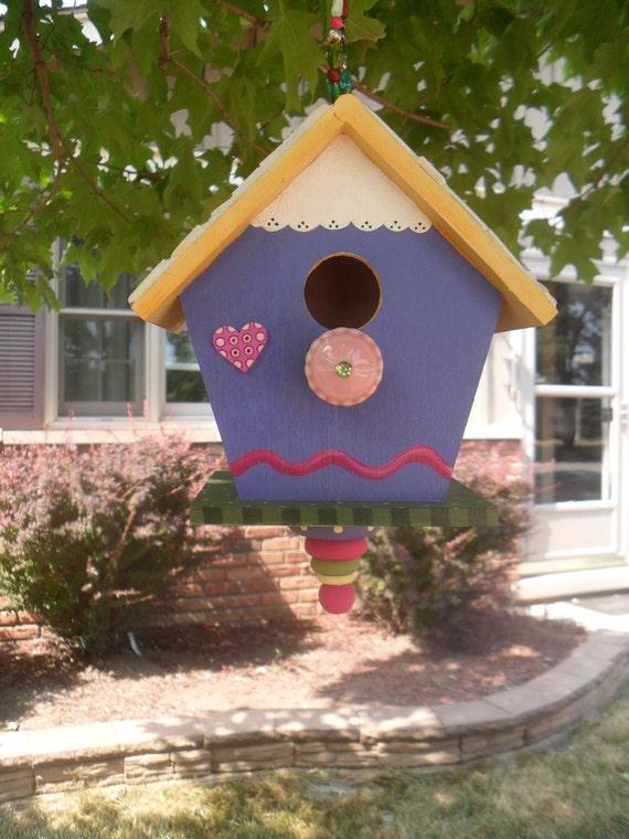 Mosaic Purple Passion Birdhouse