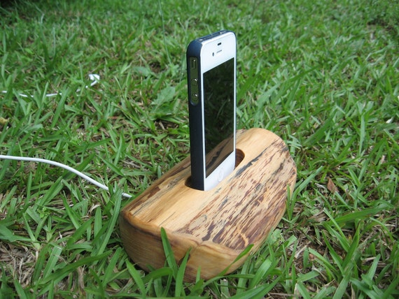 Hand made  iPhone 4 or iPhone 5 and iTouch charging & docking station  for home or office. Made from cedar wood.