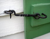 Colonial style iron latch