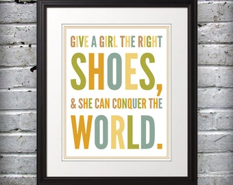 Marilyn Monroe inspired - Shoes conquer the world. - 8x10 Print