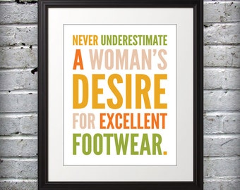Marilyn Monroe inspired - Womans desire for excellent footwear. - 8x10 Print