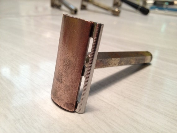 Frankenrazor Tech Double-Edge Razor - Bronze in color