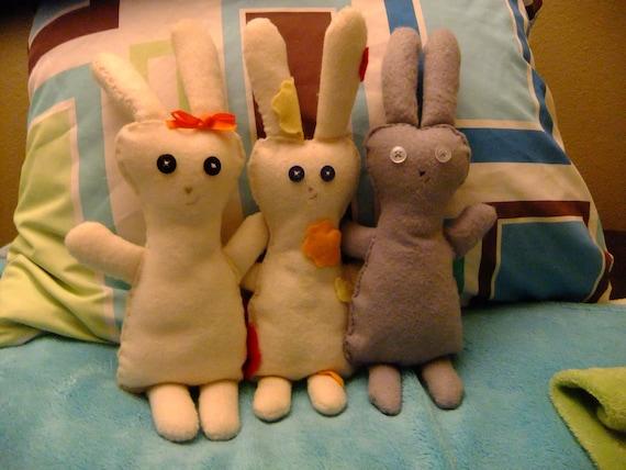 Items similar to Homemade Rabbit/Bunny Stuffed Animal ...
