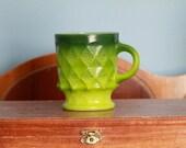 Vintage 1970s Anchor Hocking Pyrex Fire King Kimberly Green Coffee Mug