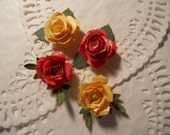 flowers paper roses in multi colors