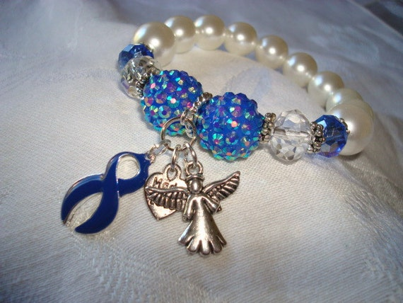 colon cancer awareness bracelet by joslynwhiting on etsy