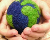 Soft Felted Earth Ball