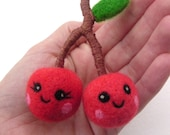 Play Food Cherries - Needle Felted