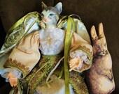 Victorian Cat  Doll - 8 X 10 Print - Fine Art Photography - Home Decor - Shabby Chic