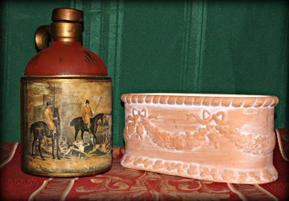 Fox Hunt Scene Jug & Terra Cotta Vase Sold By MuzettasWaltz