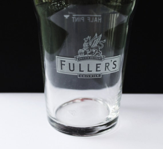 Fuller's Chiswick Half Pint Beer Glass - Griffin Brewery - Vintage -  Collectibles - Man Cave -  Bar Decor - Housewares - Advertising