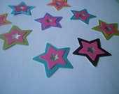 25 Paper Stars with star embellishment