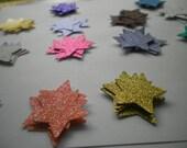 25 Glitter Stars Die Cut