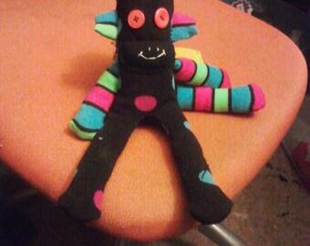 Neon sock monkey