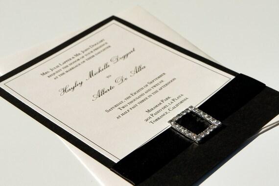 Traditional Elegant Wedding Invitations: Elegant Traditional Black And White/Ivory By Dovetaildesignok