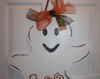 Wooden Ghost Door Hanger