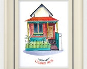 "Custom Watercolor House Portrait 10"" x 8"""