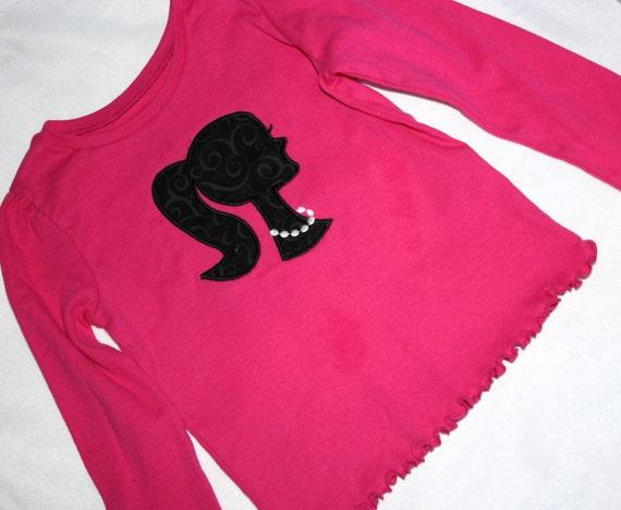 Barbie Doll Silhouette Applique Shirt