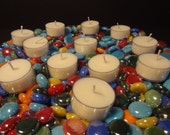 French Vanilla One Dozen Tea Lights plastic cups All Natural Soy Candle created by Simple Aromas