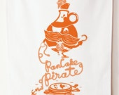 Pancake Pirate 100% Cotton Tea Towel