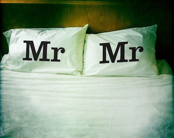 Mr & Mr pillowcase set