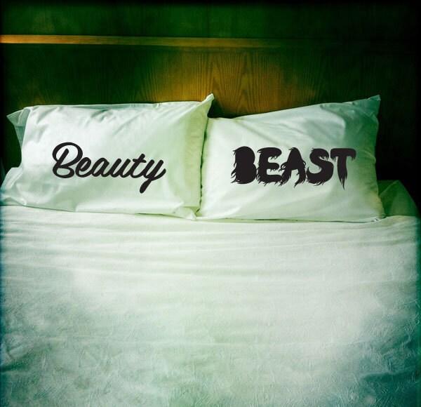 beauty amp beast pillowcase set