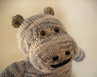 Hand Knitted Hippo